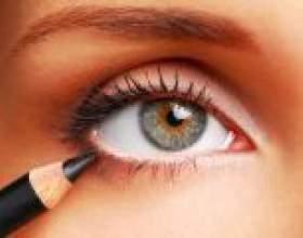 Акуратно виконуємо малюнок на очах олівцем поетапно фото