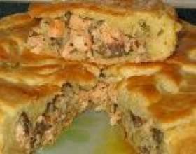 Апетитний пиріг з рибою - рецепти приготування фото