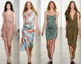 Демократичність фарб і силуетів в модних навесні і влітку 2013 сукнях фото