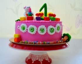 Дитячий торт на 1 рік. Торт на 1 рік дівчинці, хлопчикові. Фото приклади з мастикою і без мастики, ідеї торта на рік фото