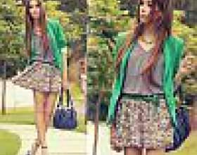 Модні спідниці 2012: різноманітність форм, кольорів і матеріалів фото