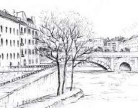 Як намалювати місто олівцем? фото