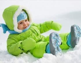 Як одягати дитину взимку на прогулянку фото