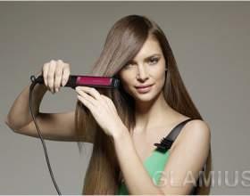 Як правильно випрямляти волосся праскою фото