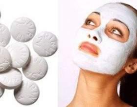 Як приготувати протизапальні маски для обличчя з аспірину фото