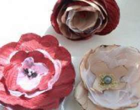 Як зробити квітку з тканини своїми руками? фото