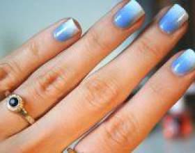 Як зробити омбре на нігтях? фото