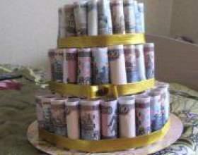 Як зробити торт з грошей? фото