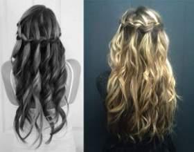 Як заплести красиву косу-водоспад. Покрокова інструкція фото