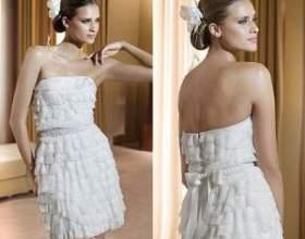 Коротке весільне плаття - свіже рішення! фото