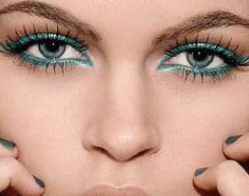 Гарний макіяж для зелених очей фото