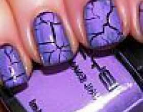 Лак для нігтів з ефектом кракелюр фото