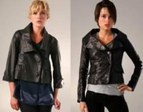 Модні шкіряні куртки 2011 фото