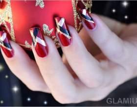 Нарощені нігті на новий рік 2016 фото