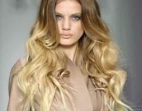Омбр на світлому волоссі фото