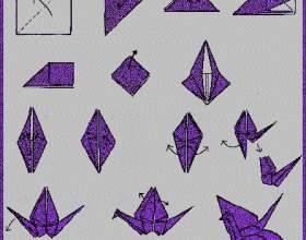 Орігамі журавлик - схема, покрокова інструкція фото