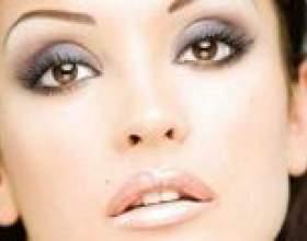 Правильний денний макіяж очей карого, блакитного і сірого кольорів фото