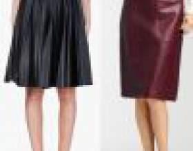 З чим носити шкіряну спідницю? Модні образи і фото фото