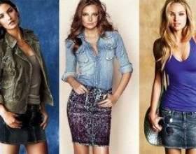 З чим носять довгі і короткі спідниці з вічно модної джинси фото