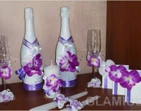 Весільна пляшка шампанського своїми руками фото