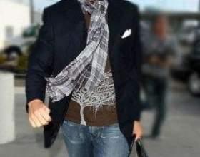 Відео та фото з рекомендаціями як красиво зав`язати шарф чоловікоⳠфото